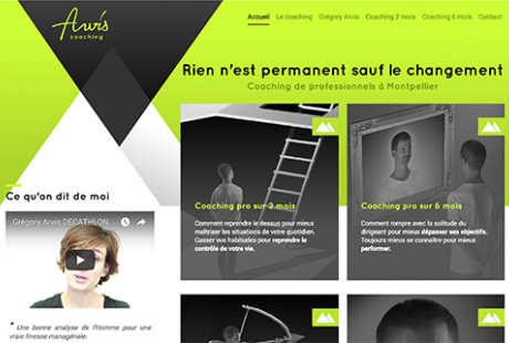 Arvis Coaching : développement site internet responsive design